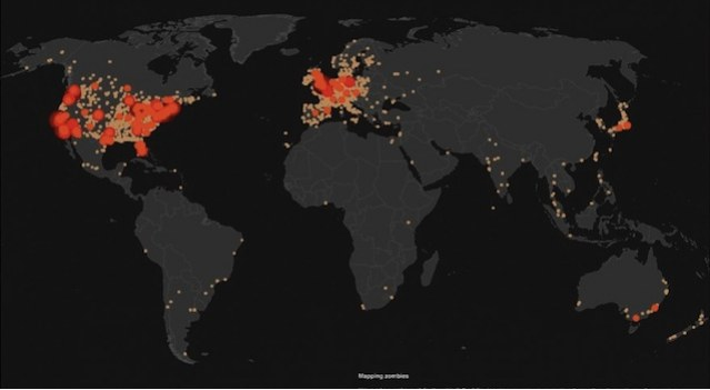 Here's a Map That Shows Where the People Who Google ''Zombies'' Are From.jpg